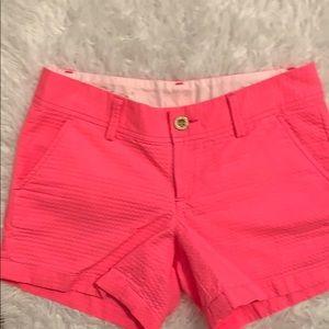 Lilly Pulitzer hot pink Callahan shorts